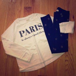 Zara sweatshirt & H&M Leggings